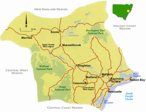 Wine Maps: Hunter Valley — Australia