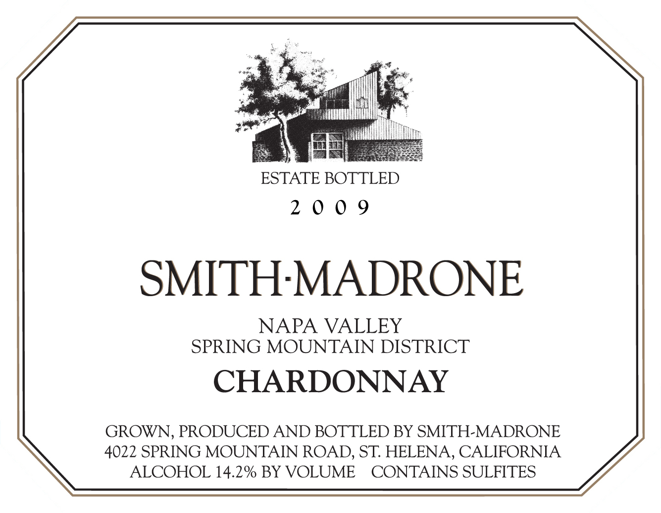 2009 Smith-Madrone Napa Valley Chardonnay