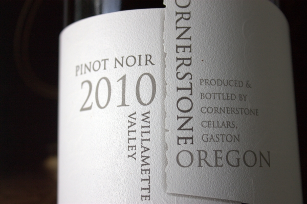 2010 Cornerstone Willamette Valley Pinot Noir