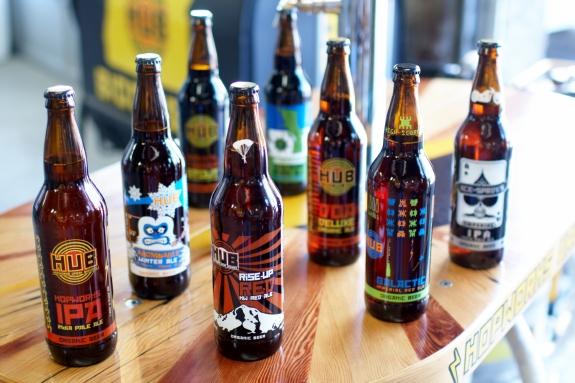 Hopworks offers handcrafted organic beers and fresh, local ingredients
