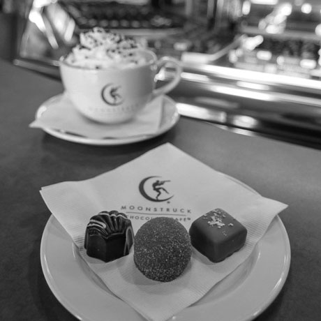 Visit Moonstruck Chocolate for a decadent chocolate experience