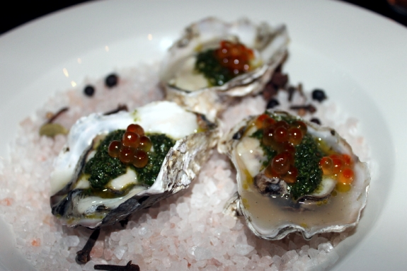 Paley's oysters which showcases seasonal Pacific Northwest cuisine