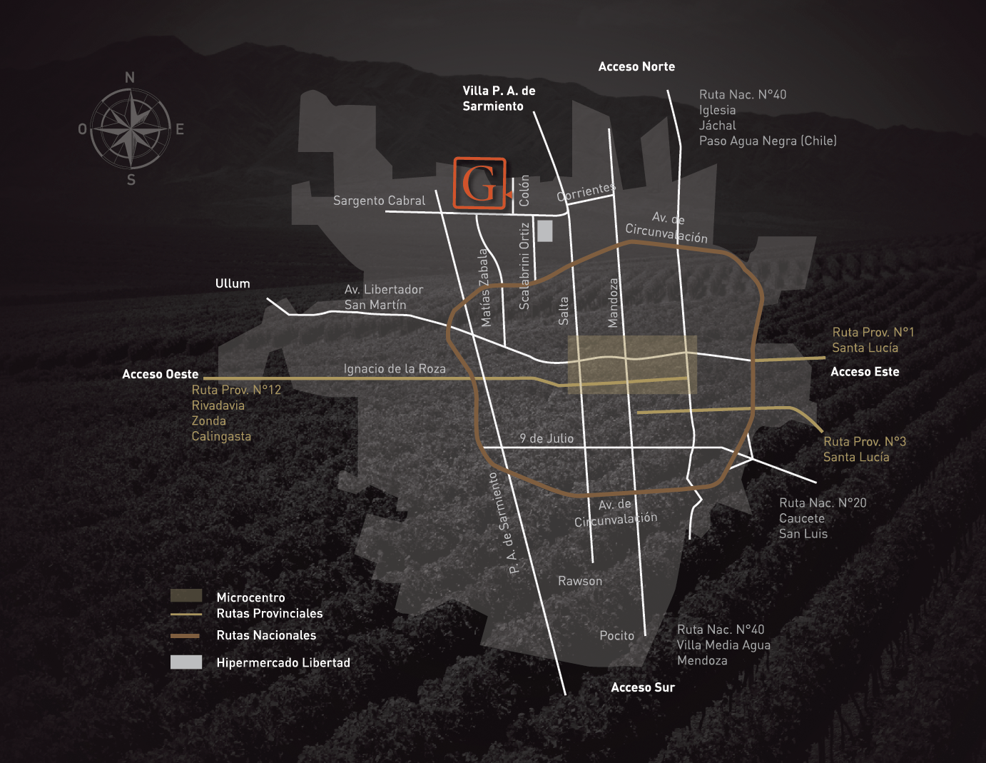 Graffigna Argentina Winery Map