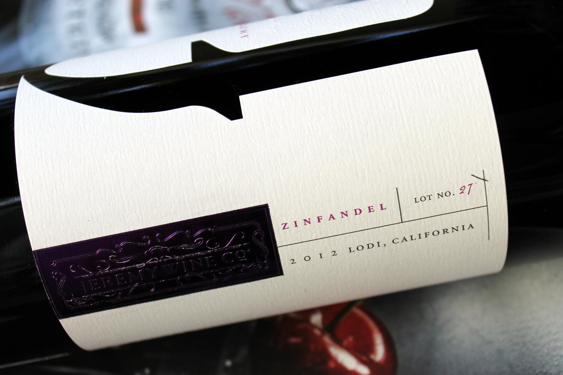 Jeremy Wine Company Lodi Zinfandel