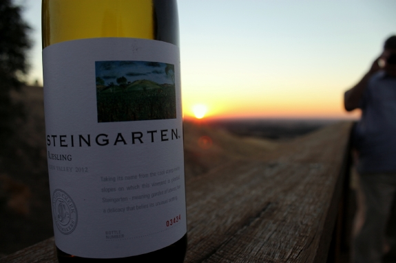 Australian food and wine; Steingarten Riesling