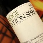 Ridge Lytton Springs Zinfandel; What is a Field Blend Wine?