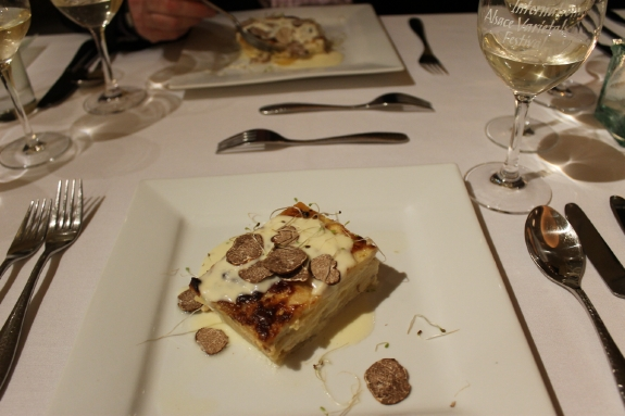 Truffles dish at the Anderson Valley Alsatian Festival