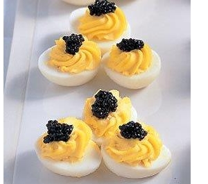 deviled eggs caviar