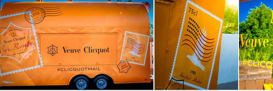 Veuve Clicquot Mail Truck Heading to Portland