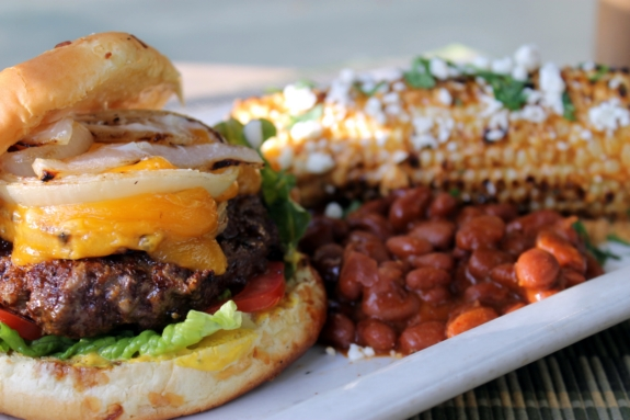 Best hamburger, corn and beans