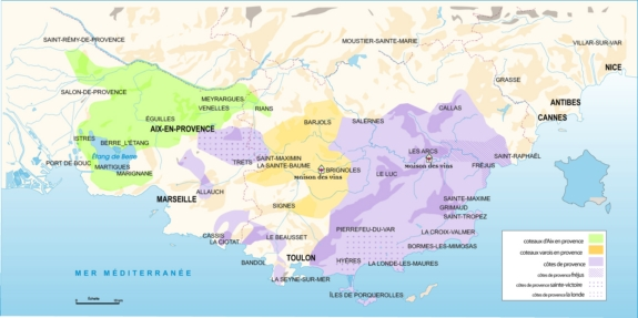 Wines of Provence map