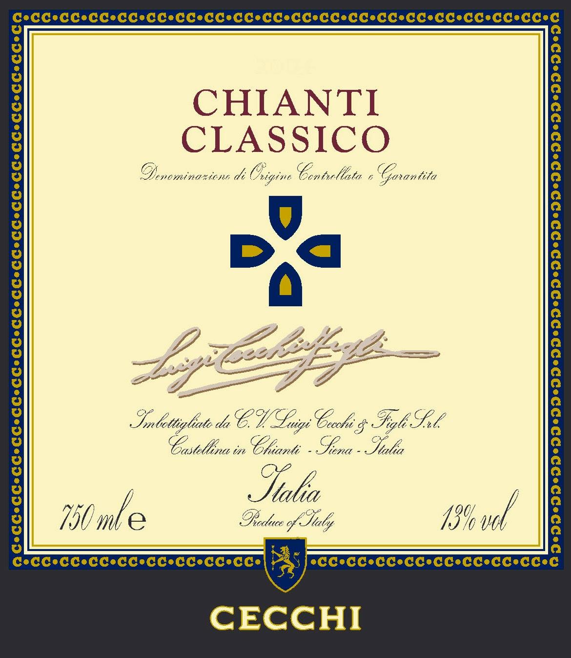 Cecchi Chianti Classico DOCG, Tuscany, Italy