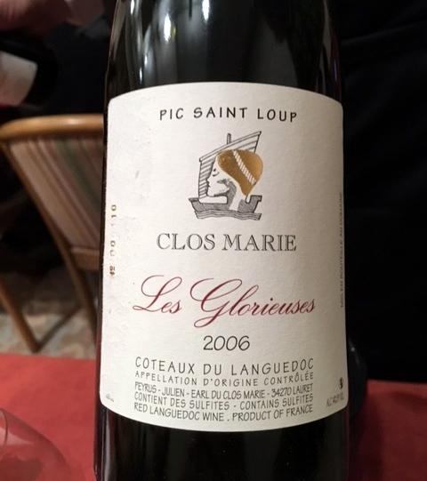 2006 Clos Marie Les Glorieuses Languedoc