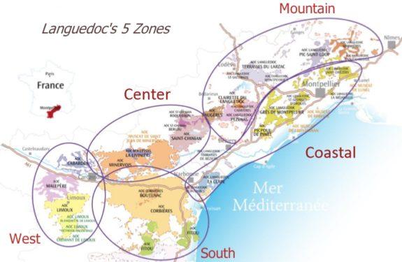Languedoc regions