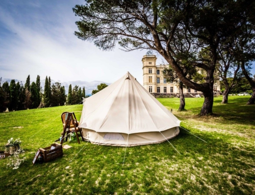 Wine Photo of the Week: Camping at Chateau de Sériège