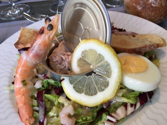 shrimp and tuna salad