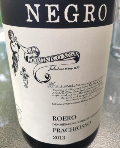 2013 Gio Dominico Negro Prachiosso Roero DOCG, Piedmont, Italy