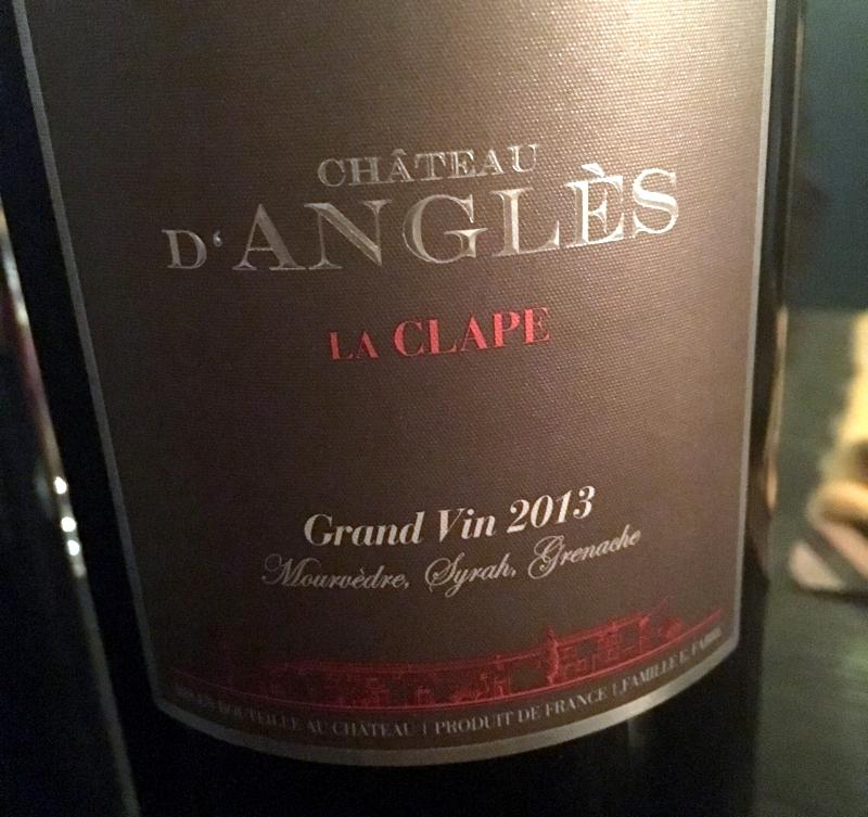 2013 Chateau D'Angles Grand Vin GSM, La Clape