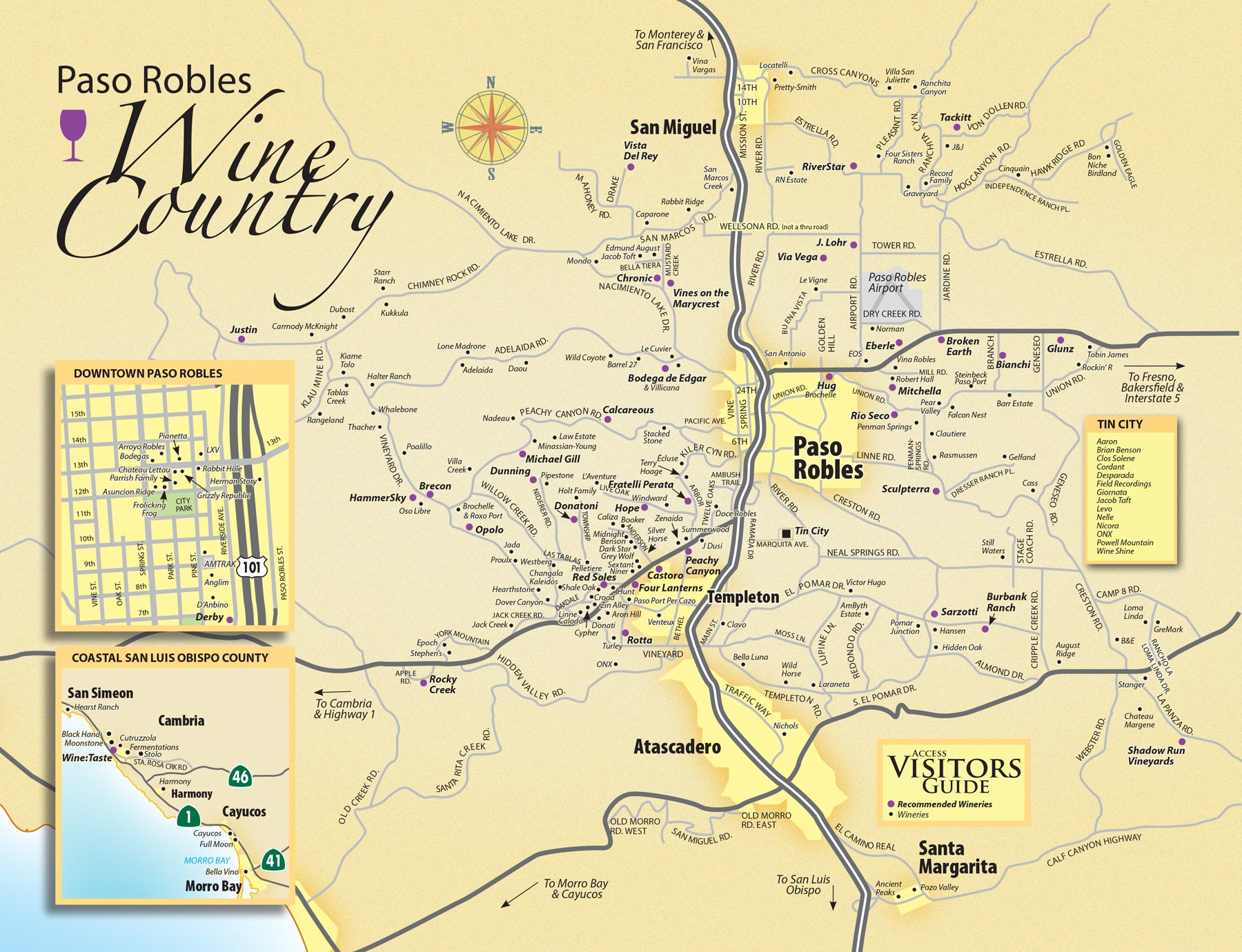 Paso Robles Wineries Map Wine Maps: Paso Robles — California – Enobytes