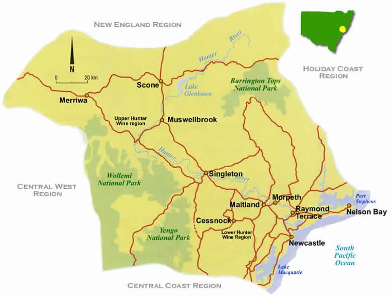 Wine Maps Hunter Valley Australia Enobytes