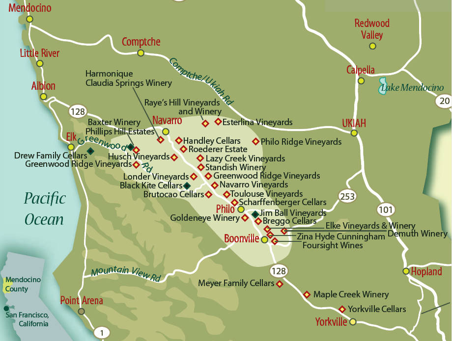 Wine Maps: Anderson Valley — California – Enobytes