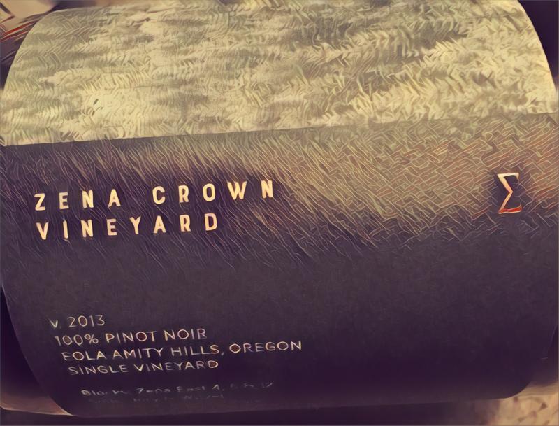 2013 Zena Crown Pinot noir ∑ – Enobytes