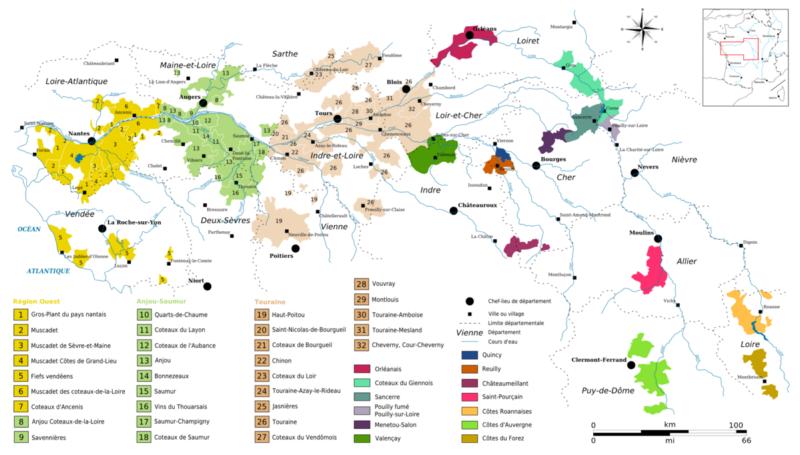 Amboise France Map.Wine Maps Loire Valley France Enobytes